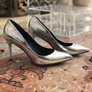Silver Brian Atwood 'Malika' pumps